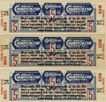 Baseball Collectibles:Tickets, 1949 World Series Phantom Tickets (St. Louis Cardinals) Lot of 3. ....