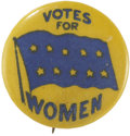 Political:Pinback Buttons (1896-present), Woman's Suffrage: Illinois Flag Pin....