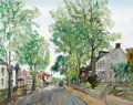 Fine Art - Painting, American:Modern  (1900 1949)  , WALTER EMERSON BAUM (American, 1884-1956). DoylestownStreet, 1946. Oil on canvas. 16 x 20 inches (40.6 x 50.8 cm).Sign...
