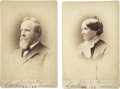 Political:Presidential Relics, President Rutherford Hayes and First Lady Lucy Webb Hayes CabinetCards.... (Total: 2 Items)