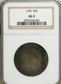 Early Half Dollars: , 1795 50C 2 Leaves AG3 NGC. NGC Census: (6/777). PCGS Population(15/1194). Mintage: 299,680. Numismedia Wsl. Price for NGC/...