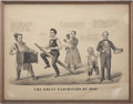 "Political:Small Paper (pre-1896), Abraham Lincoln: Political Cartoon, Currier and Ives, 1860, 16.5"" x 12.5"". Lincoln is dancing to the tunes of the variou..."
