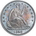 Proof Seated Half Dollars, 1846 50C Medium Date PR65 PCGS. CAC....