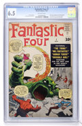 Silver Age (1956-1969):Superhero, Fantastic Four #1 (Marvel, 1961) CGC FN+ 6.5 Off-white pages....