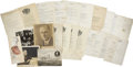Political:Small Paper (1896-present), Franklin D. Roosevelt: Lot of Twenty-Six Documents with Printed Signatures.. -1911-c. 1930s.. -Very good-near fine, with ori... (Total: 26 Items)