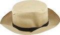 "Political:Presidential Relics, Franklin D. Roosevelt: Original Panama Hat Worn at 1943 Tehran Conference.. -Early 1940s. 12"" x 4.5"". -Some tears in crown, ..."