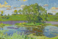 Fine Art - Painting, Russian:Contemporary (1950 to present), NIKOLAI EFIMOVICH TIMKOV (Russian, 1912-1993). LavenderLake, 1960. Oil on board. 7 x 9 inches (17.8 x 22.9 cm). Signed...