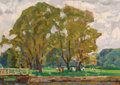 Fine Art - Painting, Russian:Contemporary (1950 to present), NIKOLAI EFIMOVICH TIMKOV (Russian, 1912-1993). In the Park,1958. Oil on artist board. 9-1/2 x 13-1/4 inches (24.1 x 33....