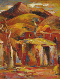MINAS AVETISIAN (Armenian, 1928-1975) Untitled, 1971 Oil on canvas 18-3/4 x 14-3/4 inches (47.6 x