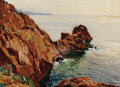 Fine Art - Painting, Russian:Modern (1900-1949), CONSTANTIN ALEKSANDROVICH WESTCHIOFF (Russian, 1877-1945).Rocks, Capri. Oil on board. 12 x 16 inches (30.5 x 40.6 cm)....