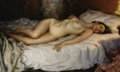 Fine Art - Painting, Russian:Modern (1900-1949), NICHOLAS B. HARITONOFF (Russian/American, 1880-1944). Nude.Oil on canvas. 25 x 40 inches (63.5 x 101.6 cm). Signed lowe...