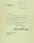 "Autographs:U.S. Presidents, Franklin D. Roosevelt: Typed Letter Signed as President.. -December16, 1936. Washington, D. C. One page, 7"" x 9"". White Hou..."