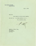 "Autographs:U.S. Presidents, Franklin D. Roosevelt: Typed Letter Signed ""FDR"" asPresident.. -July 1, 1936. Washington, D.C. One page, 7"" x 9..."