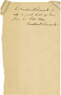 "Autographs:U.S. Presidents, Franklin D. Roosevelt: Autograph Note Signed to His Son.. -No date.No place. One page, 5.5"" x 9"".. -To: His son, Franklin D..."
