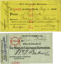 General Historic Events:Expos, World's Columbian Exposition: Two Passes.... (Total: 2 Items)