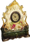 Antiques:Clocks & Watches, Lizzie Borden: A Mantle Clock Purportedly from the Murder Room,with Red Spatters Said to be the Blood of the Victims. By or...