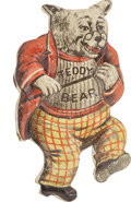Political:Pinback Buttons (1896-present), Theodore Roosevelt: Classic Color Tin Lithograph Bear Pin....