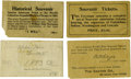 General Historic Events:World Fairs, World's Columbian Exposition: Four Different Admission Ticket Envelopes.... (Total: 4 Items)