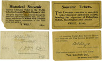 World's Columbian Exposition: Four Different Admission Ticket Envelopes