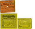 General Historic Events:World Fairs, World's Columbian Exposition: Three Excursion Tickets.... (Total: 3Items)