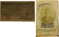 General Historic Events:World Fairs, World's Columbian Exposition: Rodney Dexter's Employee Pass to theColumbian Intramural Railway Company, His Ticket Book, and ...(Total: 5 Items)