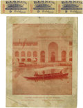 General Historic Events:World Fairs, World's Columbian Exposition: Strip of Three Tickets &Brochures for Electric Boats.... (Total: 3 Items)