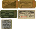 General Historic Events:World Fairs, World's Columbian Exposition: Collection of Tickets for the Steamers Running Between Downtown Docks and the World's Fair Pier.... (Total: 5 Items)