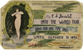 General Historic Events:World Fairs, World's Columbian Exposition: Free Pass from the Austro-Hungarian Gazette....