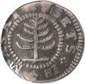 Colonials, 1652 SHILNG Pine Tree Shilling, Small Planchet--Bent--NCS. Fine Details....