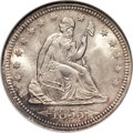 Seated Quarters, 1855 25C Arrows MS66 NGC....