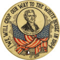"""Political:Pinback Buttons (1896-present), Alton B. Parker """"We Will Chop Our Way to the White House in 1904"""" Campaign Button...."""