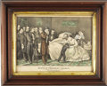 Political:Small Paper (pre-1896), Abraham Lincoln: Currier & Ives Deathbed Hand-ColoredLithographic Print, 1865....