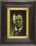 Political:Miscellaneous Political, Theodore Roosevelt: Framed Ceramic Plaque....