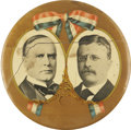 Political:Ribbons & Badges, McKinley & Roosevelt: Mammoth Campaign Jugate Celluloid Badge....