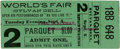 General Historic Events:World Fairs, World's Columbian Exposition: Ticket for the World's Fair Performance of Sylvan Dell, Famous Tenor....