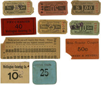 World's Columbian Exposition: Group of Restaurant Tickets and Chits including The Wellington Company