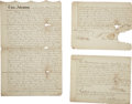 Political:Miscellaneous Political, Franklin D. Roosevelt: Historic Roosevelt Family Indenture Dated 1796.. -March 1, 1796 (filed March 4, 1796). Three pages, f...