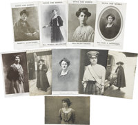 Woman's Suffrage: Ten W.S.P.U. Postcards of Leaders of the Movement
