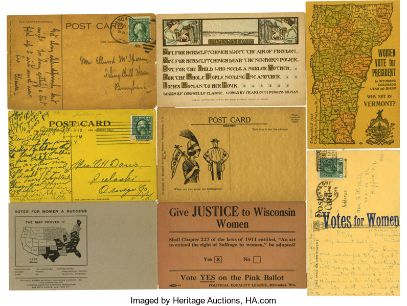 PoliticalSmall Paper 1896 Present Womans Suffrage Collection Of Eight