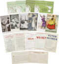 Political:Small Paper (1896-present), Woman's Suffrage: Lot of Seventeen Satirical Cards... (Total: 17 Items)