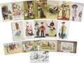 Political:Small Paper (1896-present), Woman's Suffrage: Group of Seventeen Comic Cards.... (Total: 17 Items)