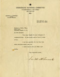 Autographs:U.S. Presidents, Franklin D. Roosevelt: Typed Letter Signed as New York Governor-Elect.. -November 13, 1928. Warm Springs, Georgia. One page,...