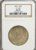 Bust Half Dollars: , 1812 50C AU53 NGC. O-108. NGC Census: (40/429). PCGS Population(39/331). Mintage: 1,628,059. Numismedia Wsl. Price for NG...