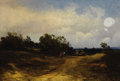 Fine Art - Painting, American:Antique  (Pre 1900), EDWARD MORAN (American, 1829-1901). Leaving the Farm, 1859.Oil on canvas. 22 x 32 inches (55.9 x 81.3 cm). Signed and d...