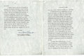 """Autographs:U.S. Presidents, Eleanor Roosevelt: Typed Letter Signed """"Anna EleanorRoosevelt"""" to Her Children Regarding Their Father's LifeStor..."""