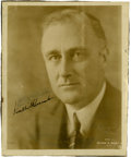 "Autographs:U.S. Presidents, Franklin D. Roosevelt: Inscribed and Signed Photograph. . -No date.No Place. 8"" x 10"".. -To: ""Walter A. Counallon/ From c..."