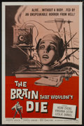 "Movie Posters:Horror, The Brain That Wouldn't Die (American International, 1962). OneSheet (27"" X 41""). Horror...."