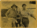 "Movie Posters:Adventure, Edwina Booth, Harry Carey and Duncan Renaldo in ""Trader Horn"" (MGM,1931). Autographed Still (8"" X 10"")...."