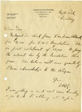 "Autographs:U.S. Presidents, Franklin D. Roosevelt: Autograph Letter Signed ""F.D.R."" asNewly Sworn-In Governor of New York Regarding the Georg..."