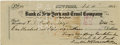 Autographs:U.S. Presidents, Franklin D. Roosevelt: Bank Check Signed as President of the Georgia Warm Springs Foundation.. -February 11, 1928. New York....